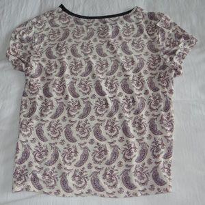 American Eagle light soft T-shirt paisley print